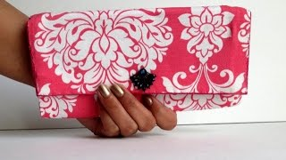 Download DIY Fabric & Cardboard Purse | Card Holder | Clutch Video