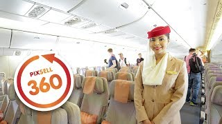 Download 360 VIDEO: Inside the Emirates Boeing 777-300 Amazing Luxury Jet Airliner Video