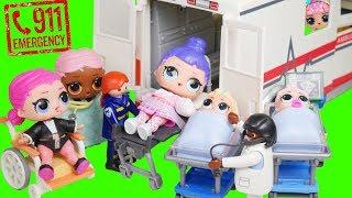 Download LOL Surprise! Doll Gets Hurt + Visits Giant Ambulance Hospital Unbox Video