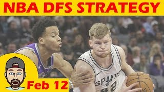 Download NBA DFS Projections & Strategy | Monday 2/12 | FanDuel & DraftKings Video