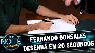 Download Fernando Gonsales faz desenho em 20 segundos | The Noite (26/05/17) Video