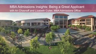 Download MBA Admissions Insights: Being A Great Applicant Video