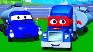 Download Carl the Super Truck and the Tanker in Car City | Trucks Cartoon for kids Video