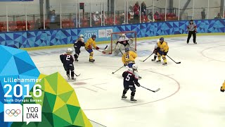 Download Ice Hockey - Women's Preliminaries - Sweden vs Slovakia | Lillehammer 2016 Youth Olympic Games Video