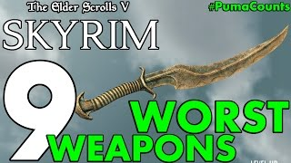 Download Top 9 Worst Swords, Bows and other Weapons in Elder Scrolls Skyrim Remastered #PumaCounts Video