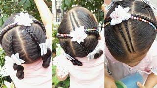 Download Peinado trenza 2 coleta para niña de 2 - 5 años Video
