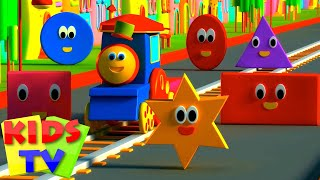 Download Bob The Train | Adventure with Shapes | Shapes for Children | Shape Song | Kids tv Songs Video
