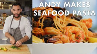 Download Andy Makes Seafood Pasta | From the Test Kitchen | Bon Appétit Video