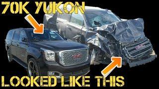 Download Near New Yukon HIDING MAJOR DAMAGE At Auto Auction Video