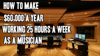 Download How To Make $60,000 A Year Working 25 Hours A Week As A Musician Video