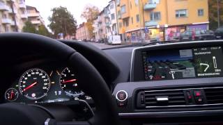 Download BMW M6 F12 in everyday usage in slippery autumn weather in Sweden Video