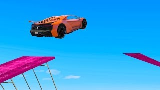 Download IMPOSSIBLE MILE HIGH STUNT JUMPS! - GTA 5 Funny Moments Video