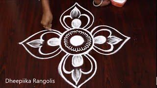 Download Beautiful free hand rangoli design | kolam muggulu Video