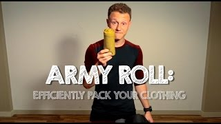 Download How to Pack your Clothing Efficiently - Army Roll Method Video