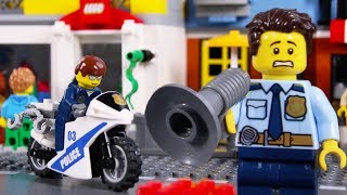 Download LEGO Police Car Chase STOP MOTION LEGO Police School: Catch The Crooks   LEGO City   Billy Bricks Video