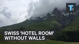 Download Swiss 'hotel room' without walls Video