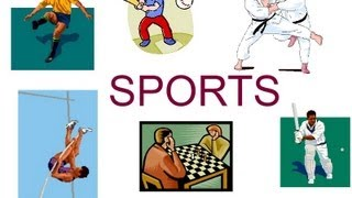 Download Names of sports and games for preschool children, sports flash cards Video