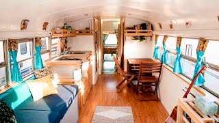 Download ″HOW WE ROLL″ Awesome Converted School Bus Home Tour Video