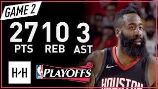 Download James Harden Full Game 2 Highlights vs Warriors 2018 NBA Playoffs WCF - 27 Pts, 10 Reb, 3 Ast! Video