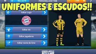 Download Como colocar kits e logos no Dream league soccer 17 (Uniformes e escudos)!! Video