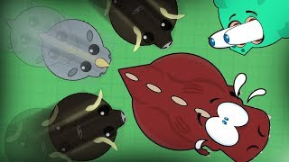 Download MUSKOX SLAUGHTERS EVERYTHING!! INSTANT KILL *GLITCH*!! NEW T-REX UPDATE !! (Mope.io Funny Trolling) Video