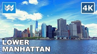 Download Walking from World Trade Center to Wall Street in Downtown Manhattan, New York City 【4K】 Video