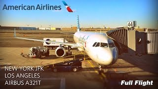 Download American Airlines Full Flight: New York to Los Angeles (Airbus A321T) *With ATC* Video