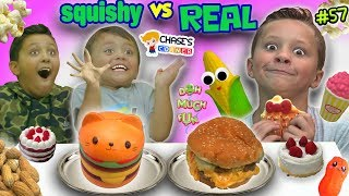 Download SQUISHY FOOD vs REAL FOOD Challenge! Chase's Corner #57 || DOH MUCH FUN Video