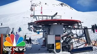 Download Terrifying Ski Lift Malfunction Caught On Camera | NBC News Video