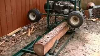 Download Home made sawmill from a old golf cart? works great. I can now afford to make furniture. Video