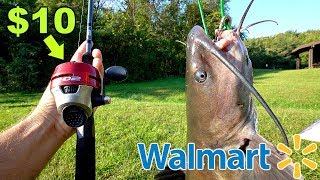 Download INSANE $10 Walmart Fishing CHALLENGE!!! (NO BAIT) Video