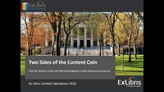 Download Summon Spotlight Webinar: Two Sides of the Content Coin Video