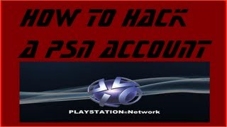 Download How to hack a PSN account Video