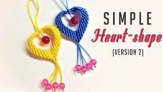 Download Macrame keychain tutorial - Another way to make a heart shape pattern - Làm móc khóa trái tim Video