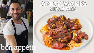 Download Andy Makes Short Ribs with Crispy Garlic and Chile Oil | From the Test Kitchen | Bon Appétit Video