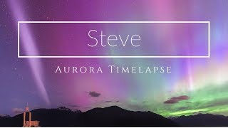 Download Astrophotography Timelapse | ″Steve″ Atmospheric Aurora Phenomenon Video