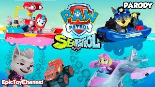 Download PAW PATROL Nickelodeon Mission Paw Rescue with Paw Patrol Sea Patrol & My Size Look Out Tower Toys Video