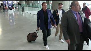 Download EXCLUSIVE - Arnold Schwarzenegger arrives at Paris CDG airport Video