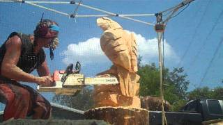 Download Eagle Chainsaw Carving Video