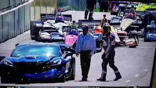 Download Indycar Pace car Corvette ZR1 crashes IndyCar 2018 Michigan!! Video