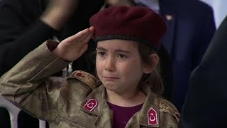 Download Erdogan slammed for telling sobbing girl, 6, her 'martyrdom' would be honoured Video