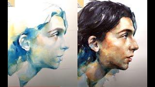 Download Watercolor Portrait Tutorial 4X Video(Timothee Chalamet)/인물화 인물수채화 Video