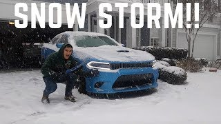 Download Dodge Charger ScatPack VS Snow Storm!! Video