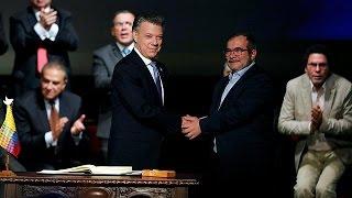 Download Colombie : signature de l'accord de paix avec les Farc Video