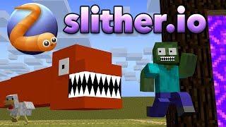 Download Monster School : SLITHER.iO CHALLENGE - Minecraft Animation Video