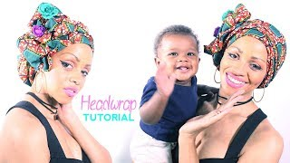 Download Easy Chic African Turban Headwrap Tutorial Video