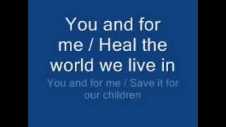 Download michael jackson - heal the world lyrics Video