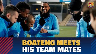 Download Kevin-Prince Boateng's first training session with Barça Video