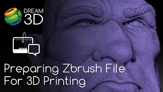 Download Preparing a Zbrush File for 3D Printing   Tutorial   Dream 3D Video