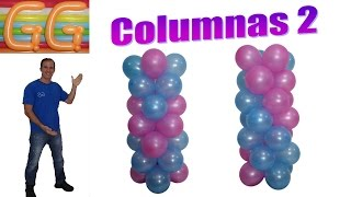 Download como hacer columnas de globos sin base - decoracion de fiestas infantiles - columnas de globos Video